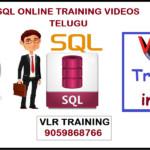 SQL ONLINE TRAINING VIDEOS TELUGU