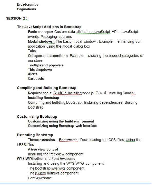 bootstrap training 2