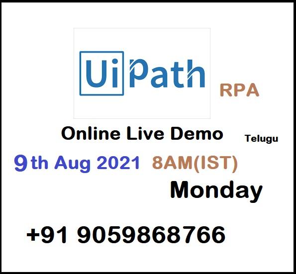 Uipath rpa online live demo